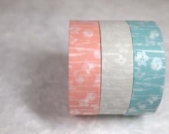 masking tape 3rolls set (little flowers)