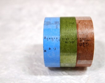SALE  masking tape 3 rolls set  (collage 15mm)