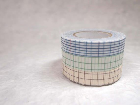 10% OFF   masking tape 3 rolls set (no.17-11) 3 colours pattern