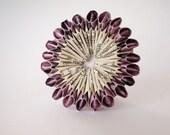Origami Diyad Brooch - 'Victorian Purple'