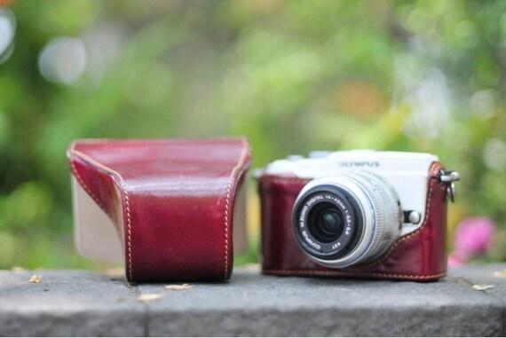 KAZA handmade leather camera full case camera bag for Olympus E-PL1 E-PL2