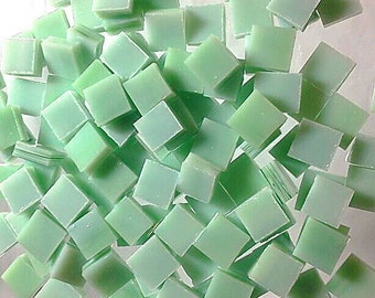 100 3/8 MINT JULEP OPAL Mini Tile Streaky Stained Glass Supply A35