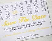Save the Date Cards with Magnet with Save the Dates Calendar Wedding Invites - Set of 10