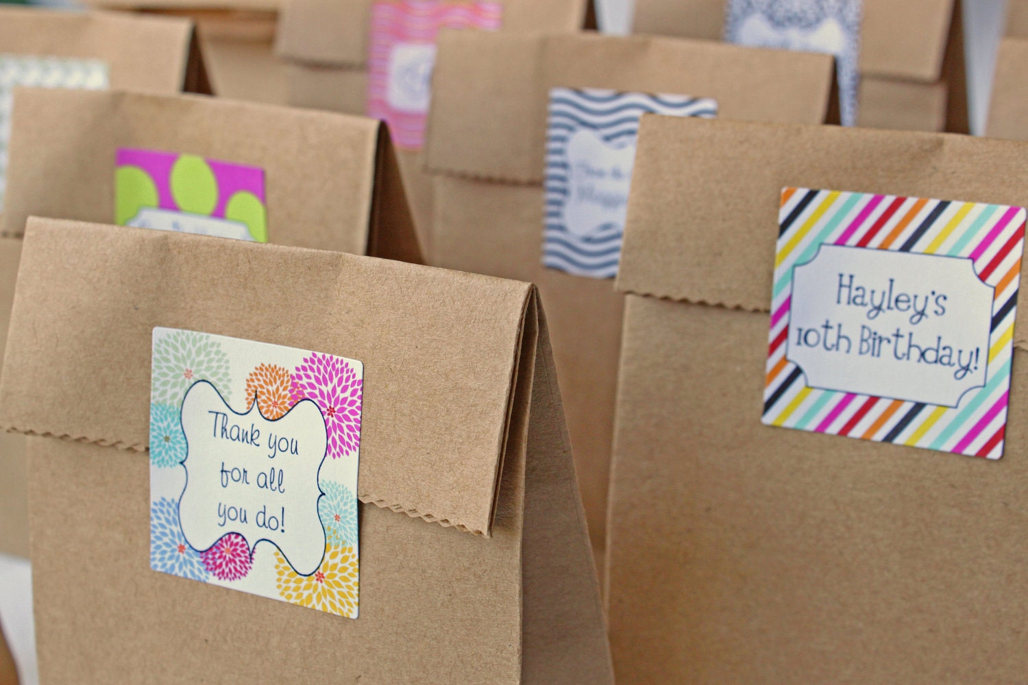 Wedding Goodie Bags Ideas : Custom Party Favor Stickers Goodie Bag Stickers Wedding Favor