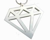 Acrylic necklace white scene diamond