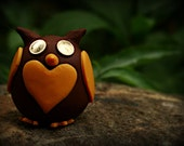 Tiny steampunk owl figurine, Franklin