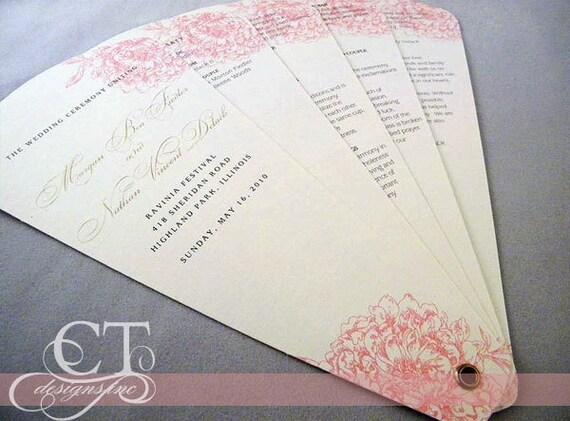 Petal Wedding Fan Program - Five Panel (GETTING STARTED)