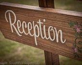 Rustic Wedding Directional Signs, Ceremony or Reception