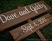 SAVE THE DATE sign - your Names and Date - Rustic Chic Wedding Sign. Spring Summer Winter Fall Autumn. Eco Decor. Outdoor Wooden Signage