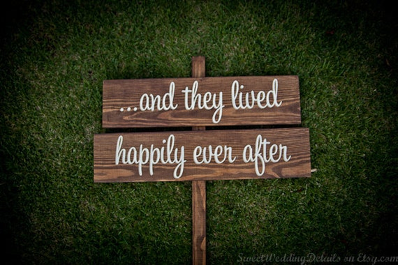 Rustic Wedding Signs ...and They Lived Happily Ever