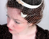 1940's White Butterfly Fascinator