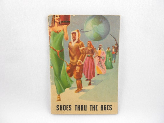 CLEARANCE Shoe History Booklet Shoes Thru The Ages Book Mid Century