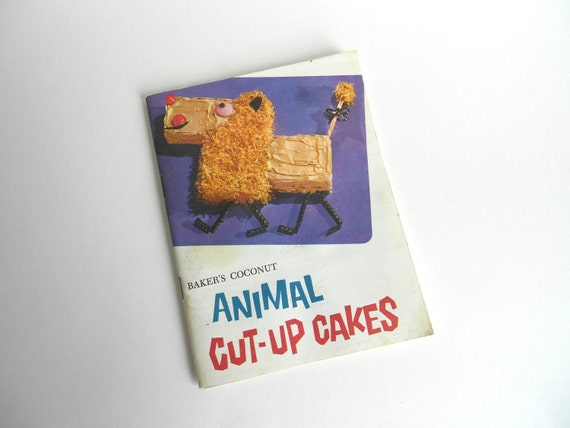 Bakers Coconut Animal Cut Up Cakes  Booklet