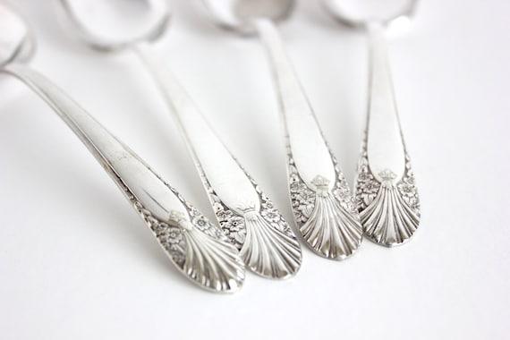 Crown Silverplate Radiance Serving Spoons Set 4 1939
