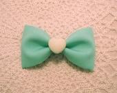Mint Seafoam Kawaii Pin Up Lolita Heart Bow