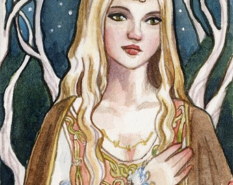Lady of the forest  limited edition ACEO print