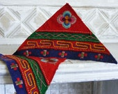 Pair of  Vintage Hand- Embroidered Patches  by Tibetan Exiles in Nepal