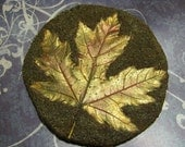 Gold Maple Leaf Cement CastingSOLD