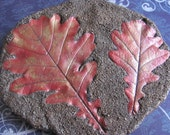 Oak Leaves Cement Casting Wall Decor SOLD