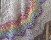 Multicolored Rippled Baby Blanket Crochet Pattern Automatic PDF Download