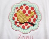 Personalized Whimsical Bird Shirt or Onesie