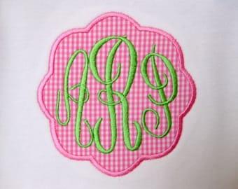 Monogram Patch Girls Shirts, Applique Patch Shirts for Girls, Girls Applique Shirt, GIrls Monogram Shirt