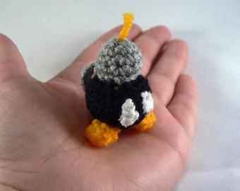 Mini Bob-omb bomb inspired by Nintendo Mario amigurumi crochet character