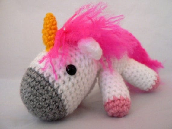 Charley the unicorn amigurumi so fluffy pink and white meme despicable me kawaii cute toy gold horn plushie stuffie