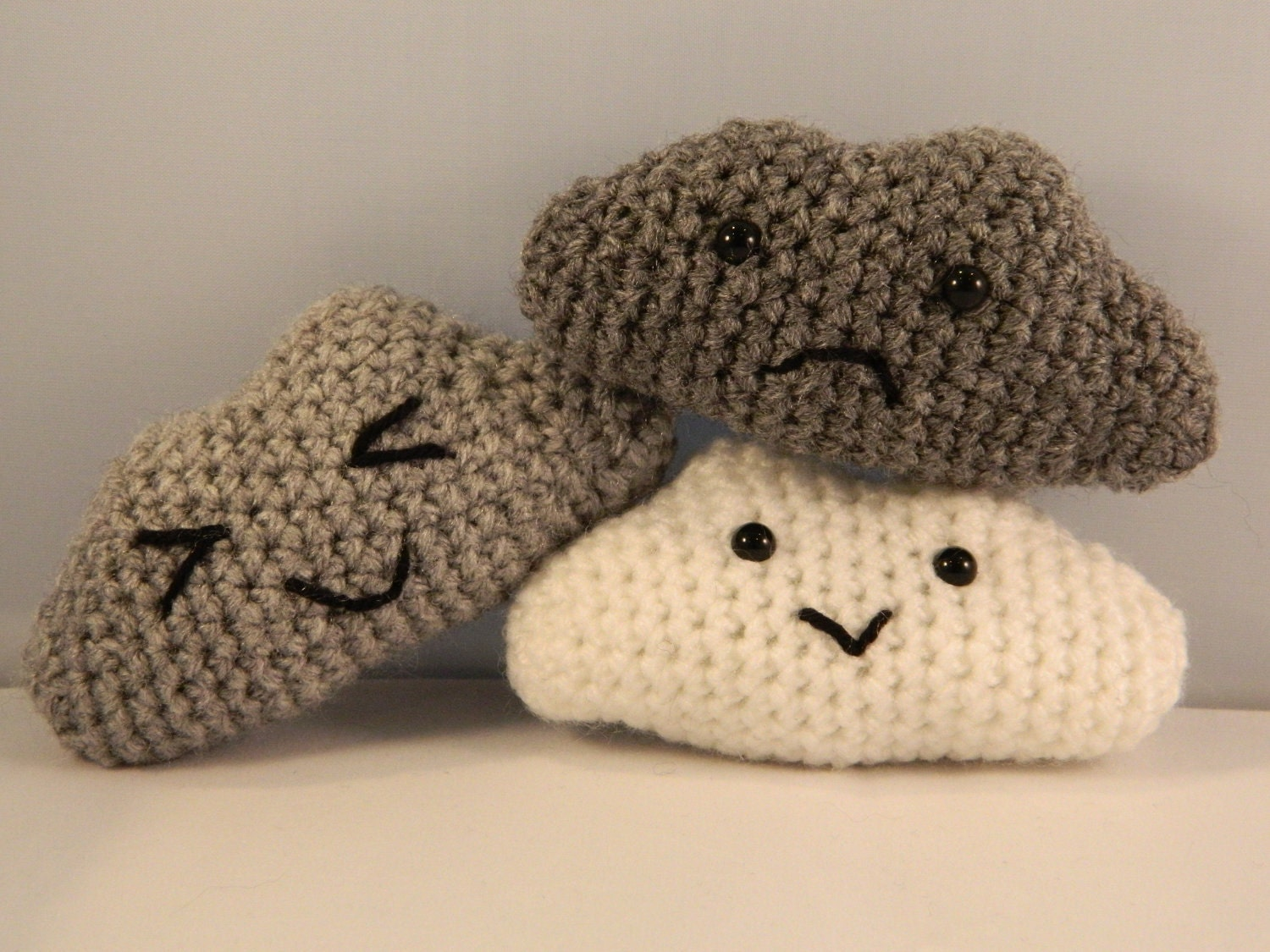 Crochet Amigurumi Smiley Faces : Norbert the fluffy cloud plush amigurumi with by ...