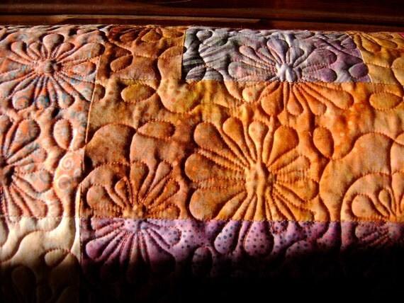 BATIK Lap Quilt, Sofa Throw - 'Sunrise Sunset'