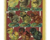 Vintage German Scrap Easter Spring Chicks