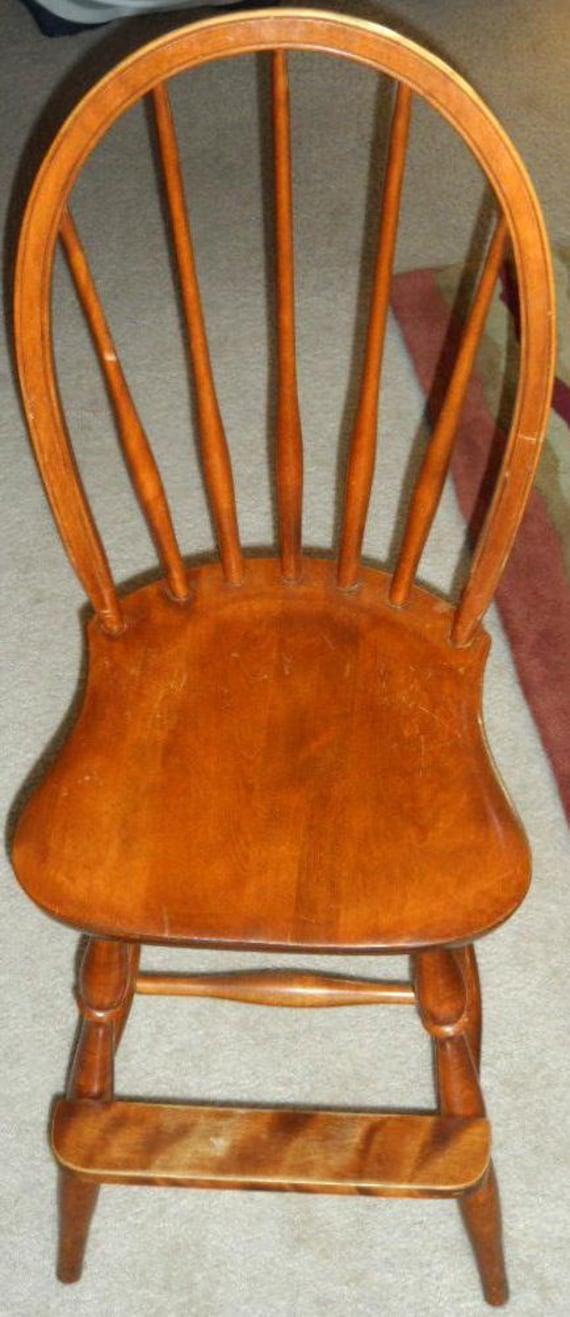 RESERVED)Antique/Vintage Childrens Windsor Wood Highchair