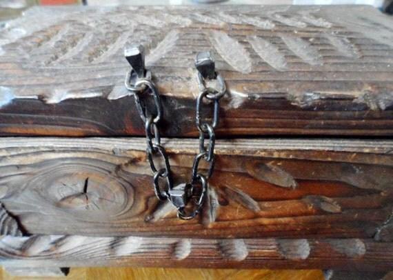 Vintage Wood Keepsake Box (SPAIN)