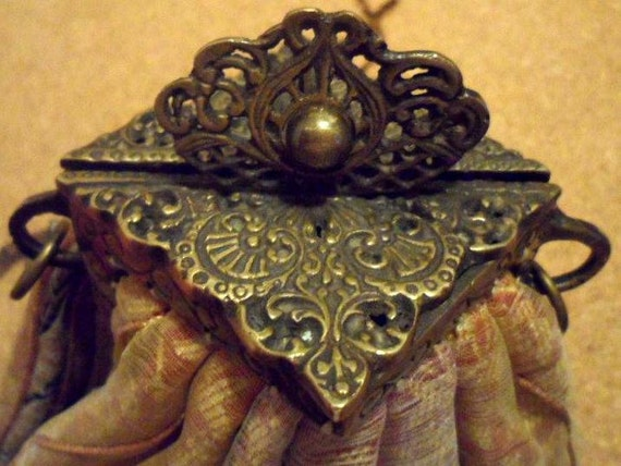 RESERVED Antique Clutch Purse/Satchel