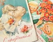 International Workers' Day, May Day, rare Soviet propaganda postcards