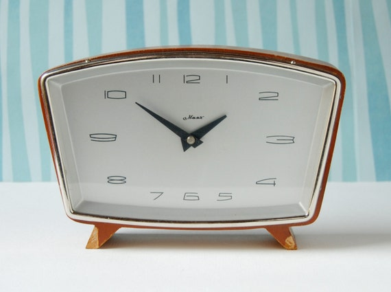 Vintage desk clock Majak from Soviet Union