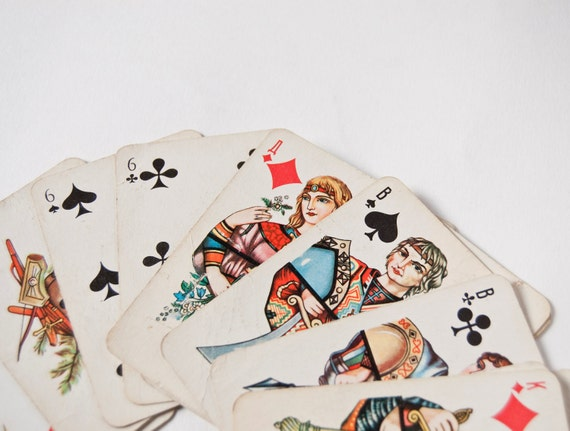 Soviet playing cards, 23 cards, printed in USSR
