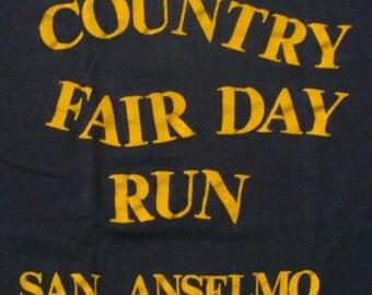 Vintage 70s Country Fair Day Run SAN ANSELMO Dark Blue Tshirt