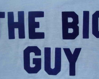 Vintage 80s The Big Guy Blue T Shirt