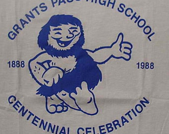 Vintage 88 Grants Pass High School Centennial Celebration White T Shirt