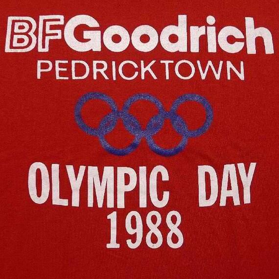 Vintage 88 BF Goodrich Pedricktown Olympic Day Red T Shirt