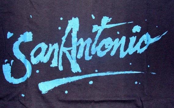 Vintage 80s San Antonio Black T Shirt