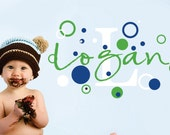 Childrens Name Wall Decal -  Name Wall Decal - Boys Name Vinyl Wall Decal  - Baby Nursery Wall Art