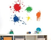 Playroom Wall Decal   Paint Splotches. - Playroom Vinyl Wall Art - Childrens Wall Decal