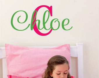 Girls Name Wall Sticker Personalized Wall Decal - Made in the USA