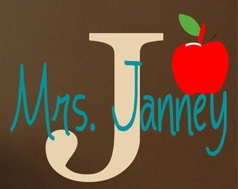 Teacher Wall Decal - Name Wall Decal - Name wall decal - Teacher Gift  - Teacher Name Wall Decal
