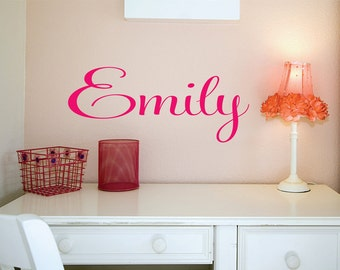 Custom Girls Name Decal // Personalized Name Sticker // Custom Girls Bedroom Decal // Nursery Wall Art // Girls Name Decal // Girls Decor