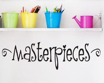 Childrens Playroom Wall Decals - Masterpiece Decal - Childrens Wall Decals - Childrens Art