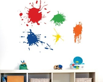 Playroom Wall Decal  -  Paint Splotch  -  Playroom Vinyl Wall Art - Childrens Wall Decal