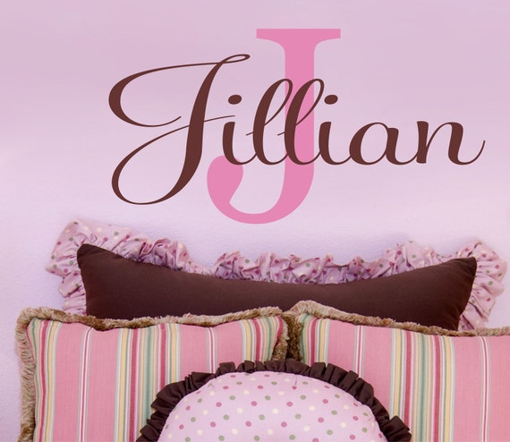 Nursery Wall Decals - Name Wall Decal - Childrens Wall Decals - Personalized Name Vinyl Lettering
